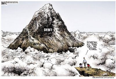 We don't have to be saddled with a mountain of debt - all we need to do is rid ourselves of the parasites who are draining the vitality out of the UK.