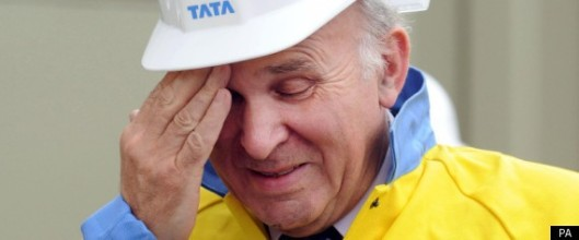 Hard hat to be worn at all times: Vince Cable will need it to avoid the brickbats his latest comments - and his party's power-hunger - will attract.