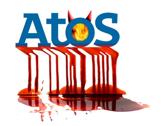 The most obvious example of the failure of outsourcing to the private sector that there is: Atos-run Work Capability Assessments have ruined the lives of thousands of people whose only crime was that their bodies don't work the same way as Iain Duncan Smith's. Another candidate for the picture would have been Unum, the company whose philosophies created the WCA in the first place.