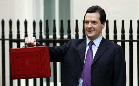 It doesn't contain the Budget; it's probably his swag bag.