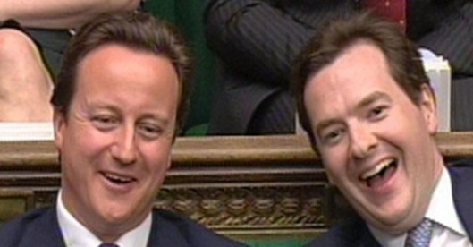 Laughing at the country's pain: What nonsense will Cameron spout this week?