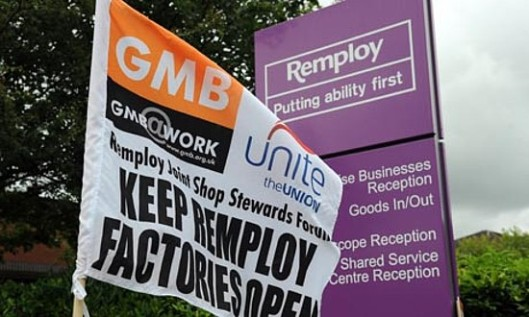 Fight for dignity: When the government announced in March last year that 36 Remploy factories would close, unions campaigned alongside workers in a bid to help them maintain the dignity they keep by holding a job and paying their way.