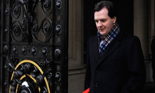 Get your coat, Gideon! If only this photo was showing Mr Osborne departing from politics forever. If he did that, not only do I think the credit ratings agencies would drop any plans to slash the UK's triple-A rating, we might see an immediate economic upturn as confidence starts to return to British industry!