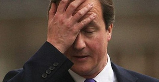 D'oh! David Cameron realises he has just described as problems all the conditions he is trying to create in the UK, after his speech to the United Nations. This photograph used because I couldn't find one of him sticking his own foot in his mouth.