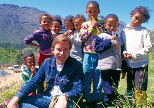 Comic Relief should be about this - helping children across the world to have a better life through laughter-based events (these were with Ewan McGregor in Africa in 1999). It's not about giving more publicity to media-savvy politicians.
