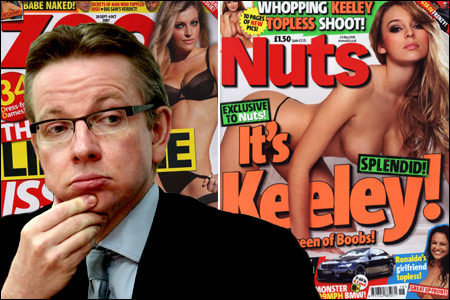 We never knew: Perhaps Michael Gove is more familiar with the reading matter behind him, but it seems he may even be acquainted with this blog!