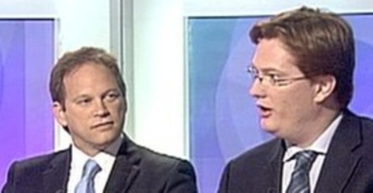 Grant Shapps and Danny Alexander, pictured together honing their nonsense-spouting skills on the BBC's Daily Politics.