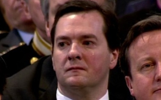 George Osborne famously shed tears at the funeral of Margaret Thatcher - but were they really for the Blue Baroness, a woman he is understood to have met only once (twice if you count Wednesday), or was it because he'd just heard that the entire theory that formed the basis for his economic policy had just disappeared from under him?