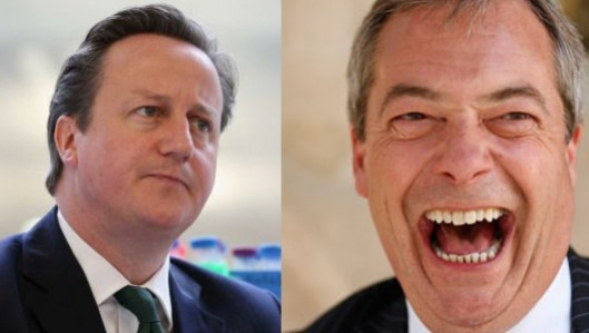 Cameron contrite while Farage laughs: The longer the Crime - sorry, Prime - Minister wavers over Europe, the more of a fool he makes himself seem.