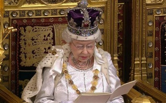 A true pro: It is a testament to the Queen's skill that she is able to get through her speech at the annual opening of Parliament without either laughing at the stupidities or choking in horror at the implied threats to her citizens.