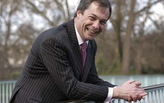 No wonder he's rubbing his hands in glee: Nigel Farage's UKIP has upset the UK political applecart, leaving the parties of government royally shafted. But is this just a protest vote and will all three mainstream parties act on the enormous hint they've just been given?