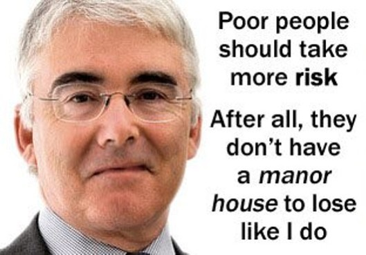 Face of evil: Because of creatures like Lord Freud, Parliament should legislate against a new crime - abuse of power. (Picture by Black Triangle)