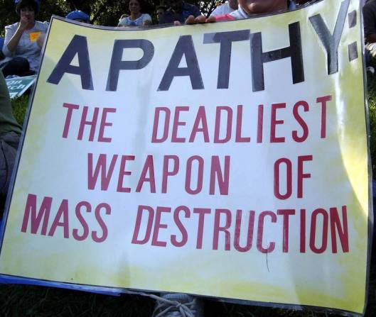Wise words: The 'People's Assembly' hopes to stir people out of their apathy and encourage them to oppose the right-wing, ideologically-driven and austerity-led destruction of British society. Are you interested, or is it too much like hard work?