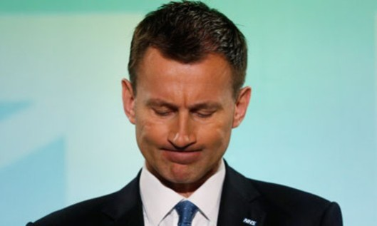 A time for silence: If Jeremy Hunt opens his mouth again, no doubt his own foot will go flying into it and he will need the help of NHS surgeons to remove it - if any can be bothered. Apparently they had enough trouble removing his head from David Cameron.