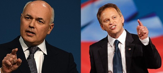 Hands up if you're a liar: Both Iain Duncan Smith and Grant Shapps have been outed as using inaccurate material in a manner contrary to officials' advice (if they'd bothered asking for it) in today's meeting.
