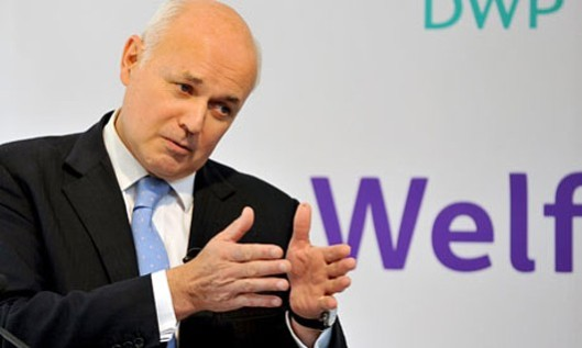Strong beliefs: But is Iain Duncan Smith about to say a prayer - or is he eyeing up his next victim?