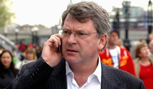 Taking instructions: Who's on the line, Lynton? Your boss David Cameron, your bosses at Philip Morris, or one of your many other clients?