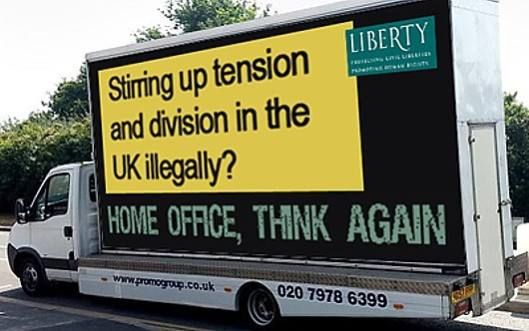 Restoring the balance: We know what's on the Home Office's so-called 'racist' vans; here's the response from human rights organisation Liberty.