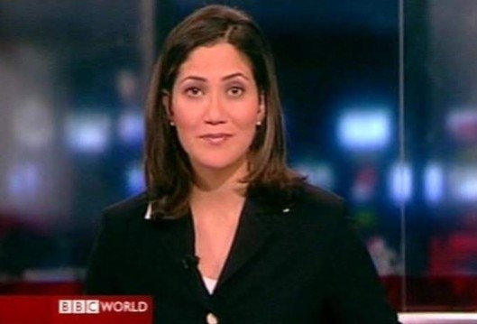 Good humour and a twinkle in the eye: But what did Mishal Husain really think about the stories of racial and religious tension in Friday's BBC bulletin?