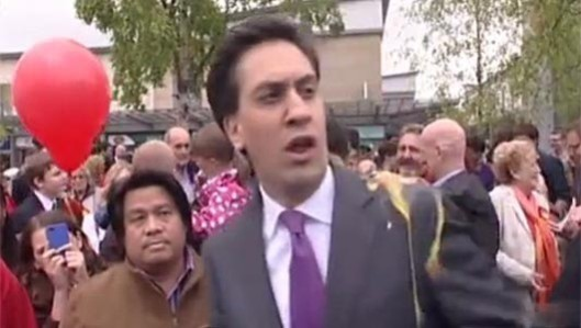 "Not a good egg: Ed Miliband was hit by an egg on his first campaign visit after returning from holiday abroad. The thrower, Dean Porter, said: ""They do nothing. The government do nothing. The shadow government do nothing. I don't believe him at all. If you are poor, you are considered a burden."""