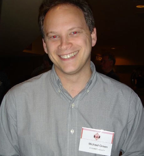 Isn't this fraud? The man pictured is Grant Shapps, but his name tag claims he is Michael Green - the name he used to run How To Corp before and after he became an MP. Isn't that fraud - gaining a financial advantage under false pretences (in this case, the pretence that he wasn't Grant Shapps)?