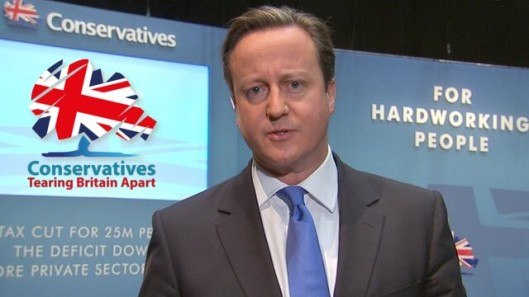 Tired old Tory: Is this David Cameron or Ken Clarke? [Picture: BBC, augmented with help by Ian Davies]