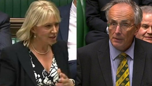 Dorries or Bone: Who is the most vile? That is the question facing MPs at the moment.