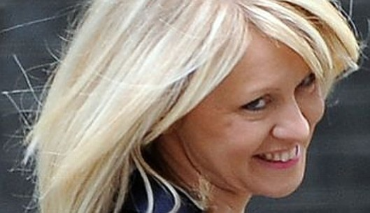 Evil eyes: Esther McVey seems to get a perverse thrill from pretending her government's policies are helping people; it is more likely they are driving the needy to despair and suicide.