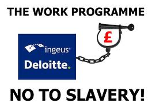 Ingeus out of favour: This image was found on a site protesting against Workfare and demonstrates the high regard in which it is held by previous users of the Ingeus service.