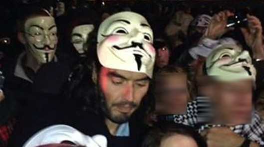 [Picture: Million Mask March London Facebook page]