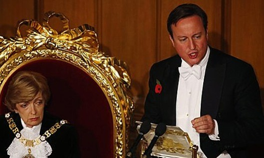 Flinging around the bling: Someone should have told David Cameron that he shouldn't surround himself with gold when he's rubbing the proles' noses in unlimited austerity. The horse impression may also have been ill-judged.