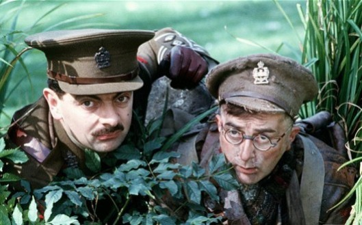 Left-wing propaganda piece? Sir Tony Robinson (right) with Rowan Atkinson in Blackadder Goes Forth.