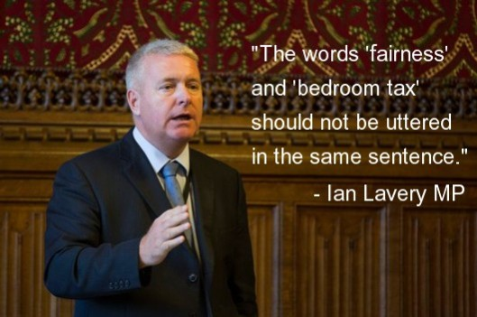 Ian Lavery launched his ambitious Bill to abolish the Bedroom Tax yesterday. [Image: Daily Mirror]