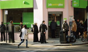 People queuing outside Jobcentre Plus. Pic courtesy: The Guardian