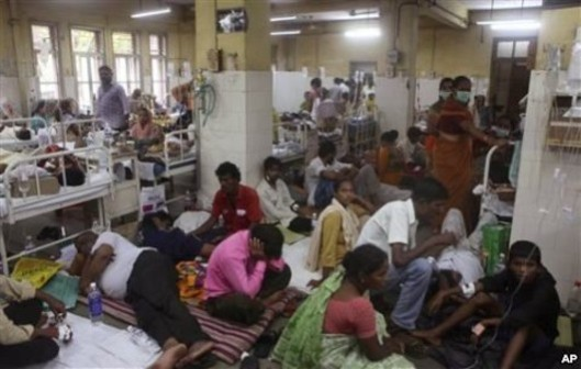 Free's a crowd (as far as your Tory government is concerned): Our hospital wards don't yet look like this (it's a ward in India during a Malaria outbreak) but it's just a matter of time.