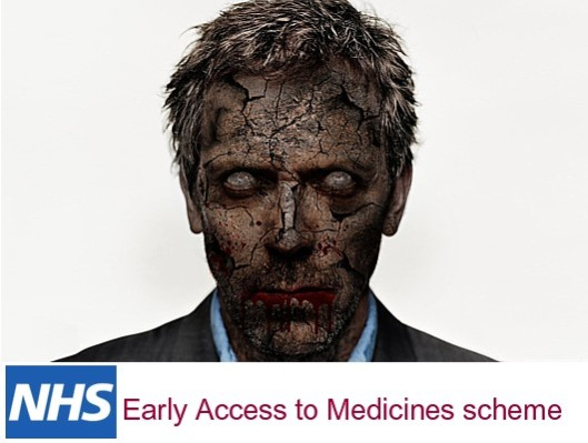 "Seal of approval: We asked TV doctor House MD whether he foresaw any problems with the Early Access to Medicines scheme. ""Nuh-uhrr,"" he replied."