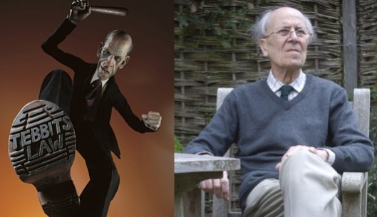 Tebbit's life: He used to be Margaret Thatcher's 'boot boy' - now he is mostly used to scare birds away from his garden and to dribble nonsense at the Daily Mail.