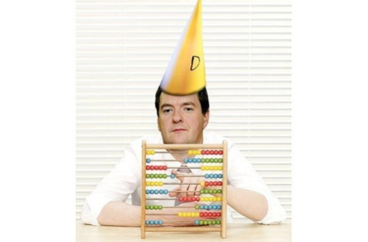 Bottom of the class: If you believe George Osborne's talk about jobs and benefits, you must have been educated at one of Michael Gove's 'free schools'. [Image: Gaianeconomics]