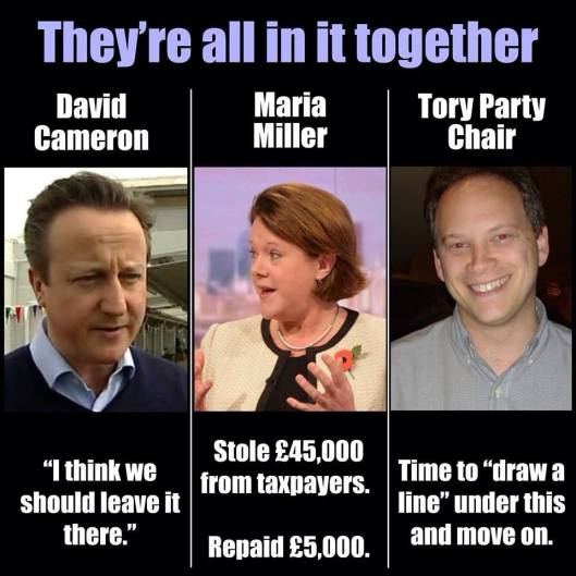 Found on Facebook: Members of the public on all the main social media are queueing up to take a pop at former DWP minister and benefit fraudster Maria Miller. How long will David Cameron delay sacking her, and how weak will he seem by the time he gets round to it?