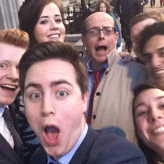 "The caption on this picture reads: ""Nick Robinson, former Young Conservatives chairman and current BBC political editor, taking a selfie with some young Tories (Photo courtesy of theblueguerilla.co.uk). Perhaps you'd like to dream up your own caption for this image of wild-eyed, slack-jawed decadence (he's the political editor at the BBC and people still think it's left-wing; the mind boggles)."