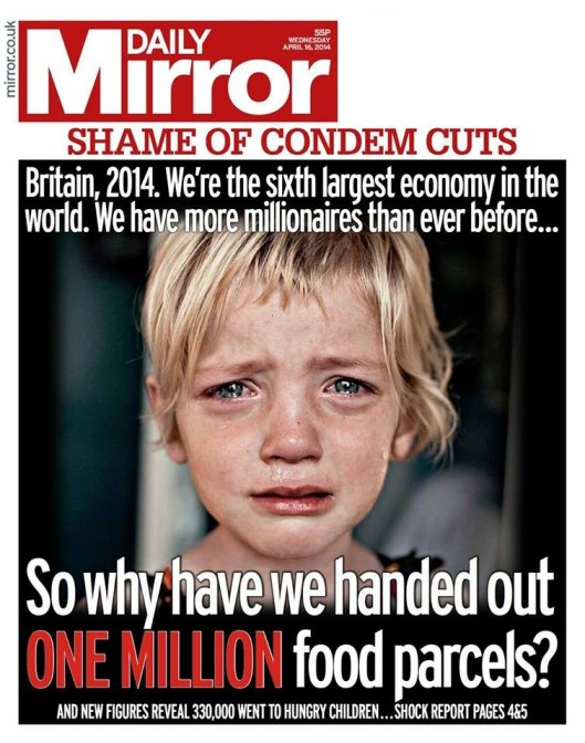 Britain's shame: The front page of yesterday's Daily Mirror.