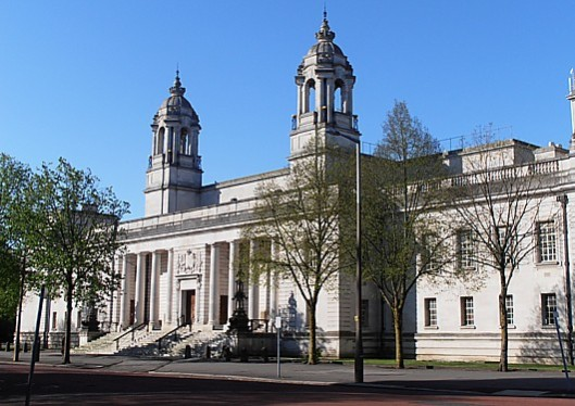 Seen to be done: The tribunal took place at the Law Courts in Cardiff (pictured), in public - which allowed friends of Vox Political to hear the case.