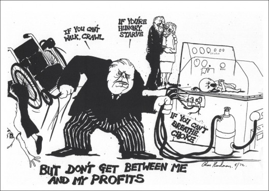 The problem in a nutshell - and this cartoon was drawn in 1972! [Image: Alan Hardman]