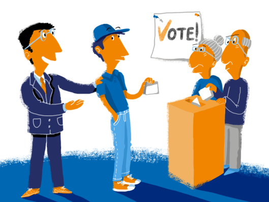 You can lead a young person to the polling station but you still can't make them vote: How do we get our youth to exercise their democratic right? [Image: theday.co.uk]