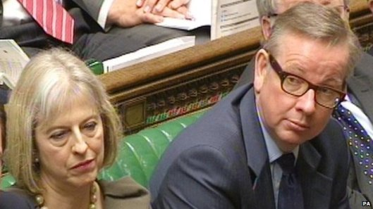 Extremists: Theresa May (left) and Michael Gove. [Image: BBC.]