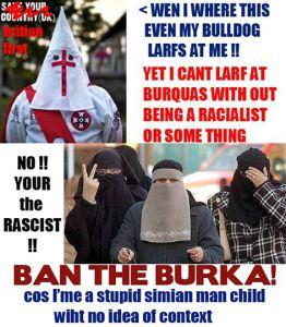 Britian Klan Burka