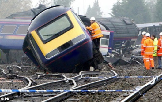 De-railed: After years of reliance on taxpayers' money, it seems the ride may soon by over for some of the UK's rail privateers [Image: PA].