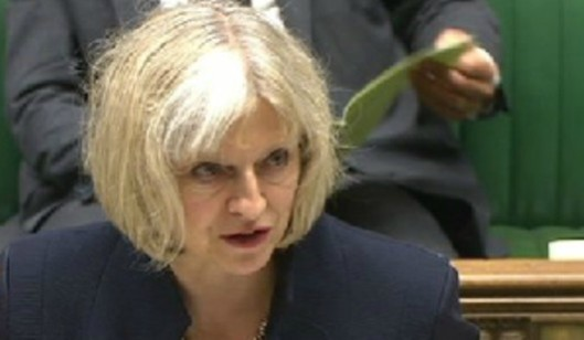 Haggard: Theresa May looked distinctly ruffled as she responded to criticism of her government's undemocratic actions. Some of you may wish to abbreviate the first word in this caption to three letters.