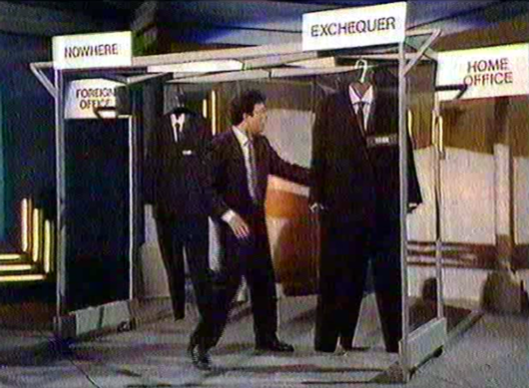 Still topical: Ben Elton's 'cabinet reshuffle' routine from 1990.
