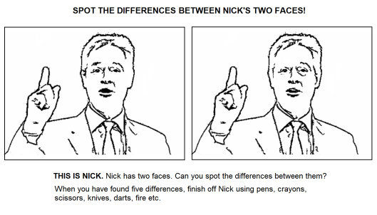 nick clegg spot the difference